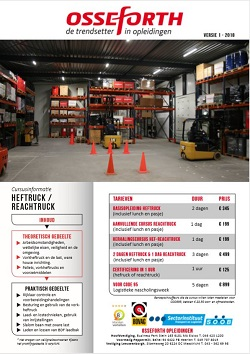 Brochure Osseforth Opleidingen Limburg Heftruck en Reachtruck
